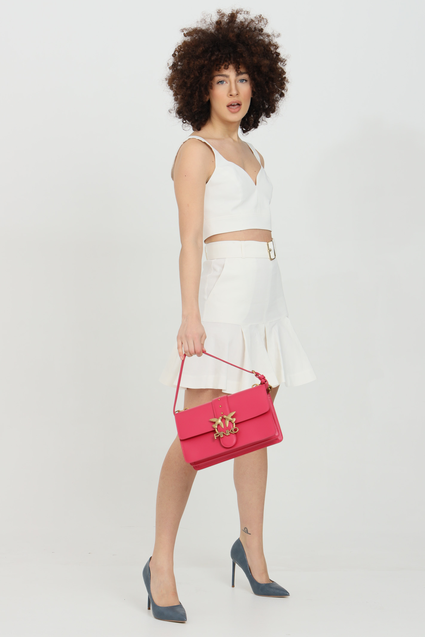 Metal shoulder bag, gold metal logo PINKO | Bag | 1P228G-Y6XTO96