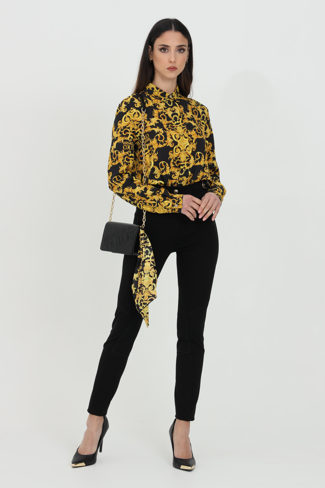 Pochette con foulard stampato VERSACE JEANS COUTURE | Borse | E1VWABA471875899