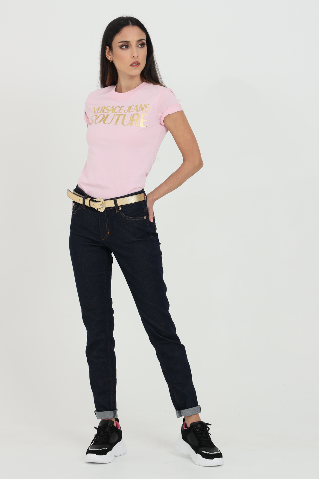 High waist denim VERSACE JEANS COUTURE | Jeans | A1HWA0K460558904