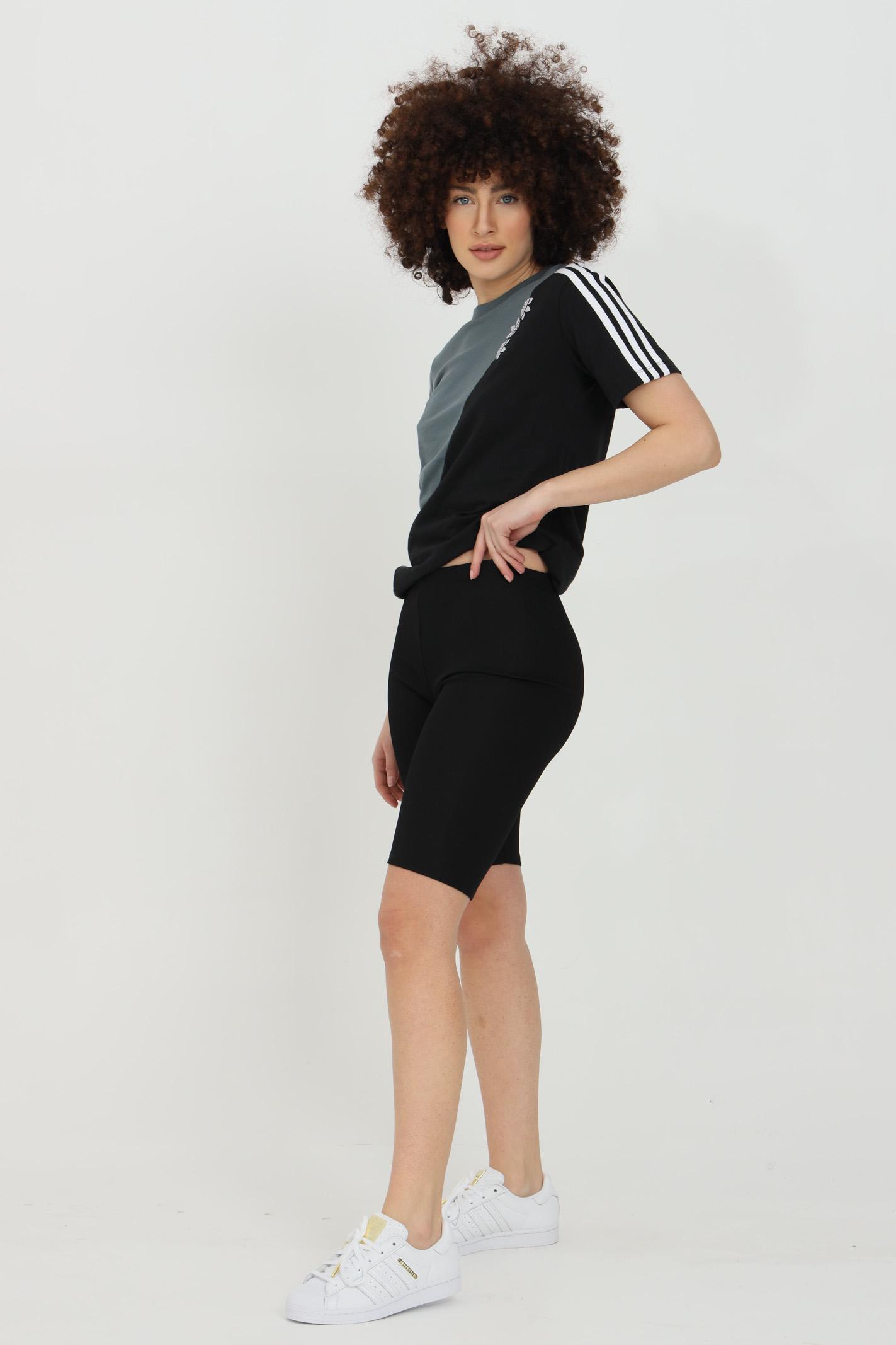 T-shirt donna nero azzurro adidas a manica corta ADIDAS | T-shirt | GN2827.