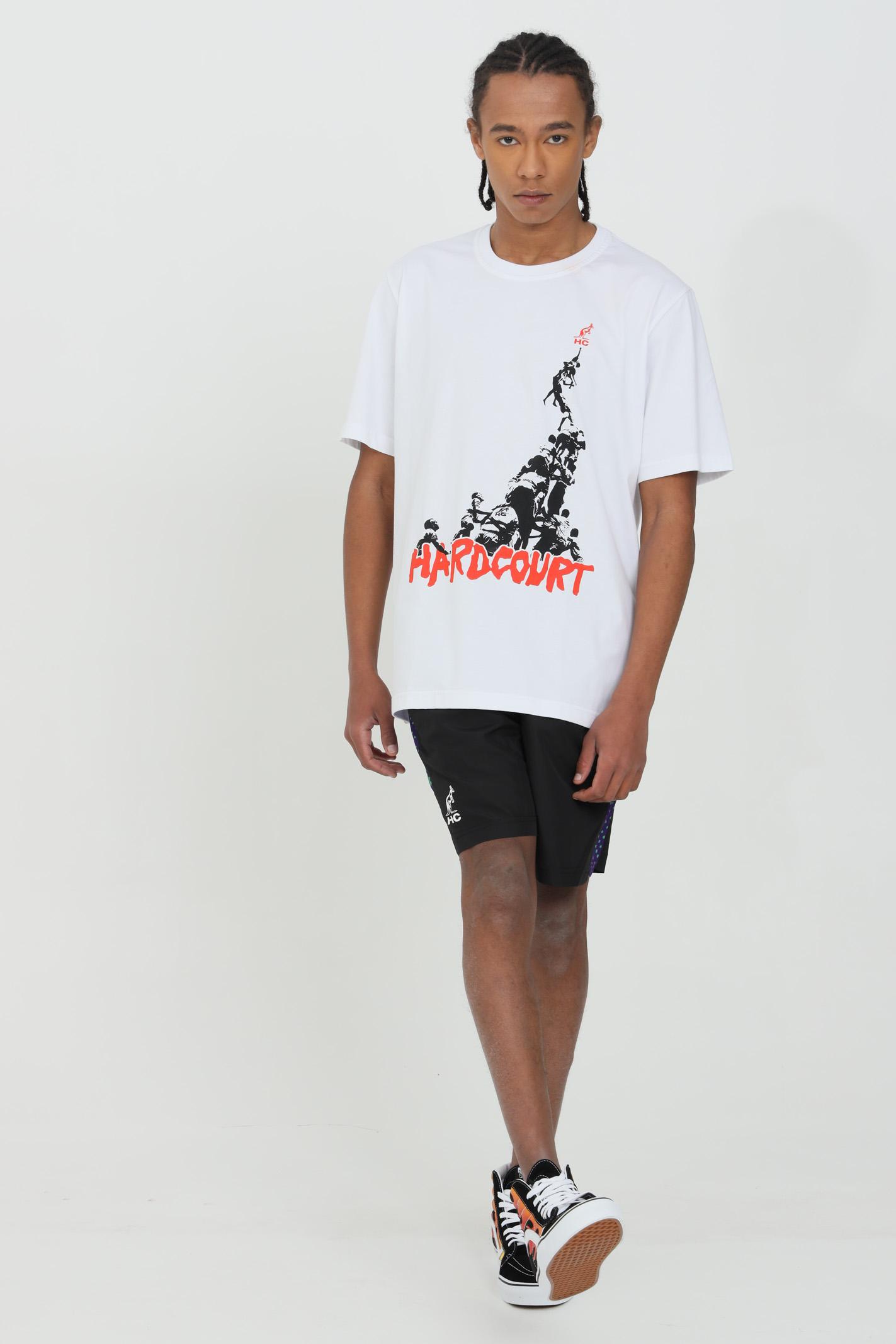 T-shirt uomo bianco Australian a manica corta e logo frontale.Modello comodo AUSTRALIAN | T-shirt | HCUTS0010002